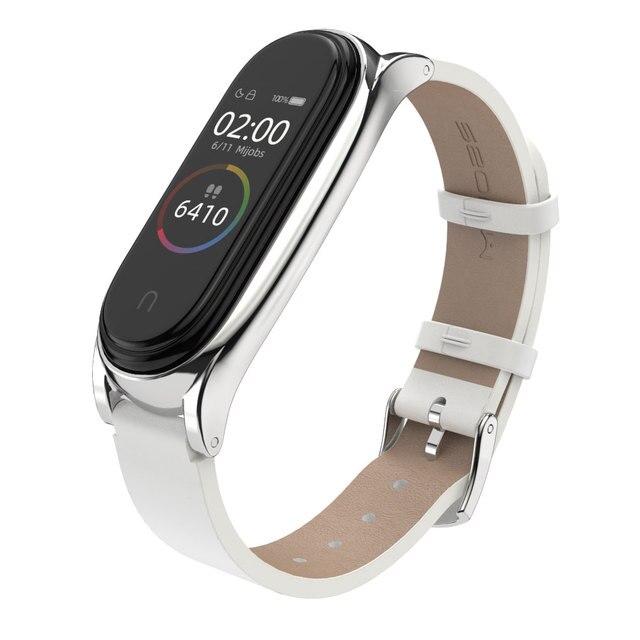 Strap for Xiaomi Mi Band 6 5 for Mi Band 4 Bracelet PU Leather Wrist Strap for Mi Band 3 Wristbands Pulseira Smart Accessories 5