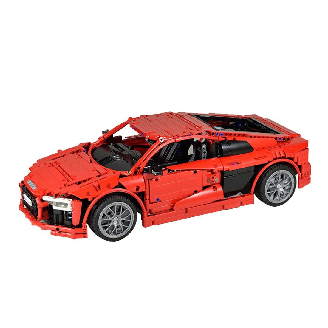 Haute qualité 1839 pièces MOC sport voiture véhicule modèle haut niveau assemblage petite particule bloc de construction ensemble-rouge