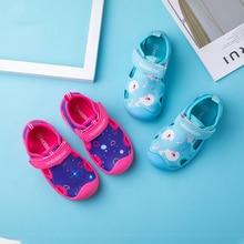 Summer New Cartoon Sandals for Girls Boys Soft Bottom Fabric Close Toe Children