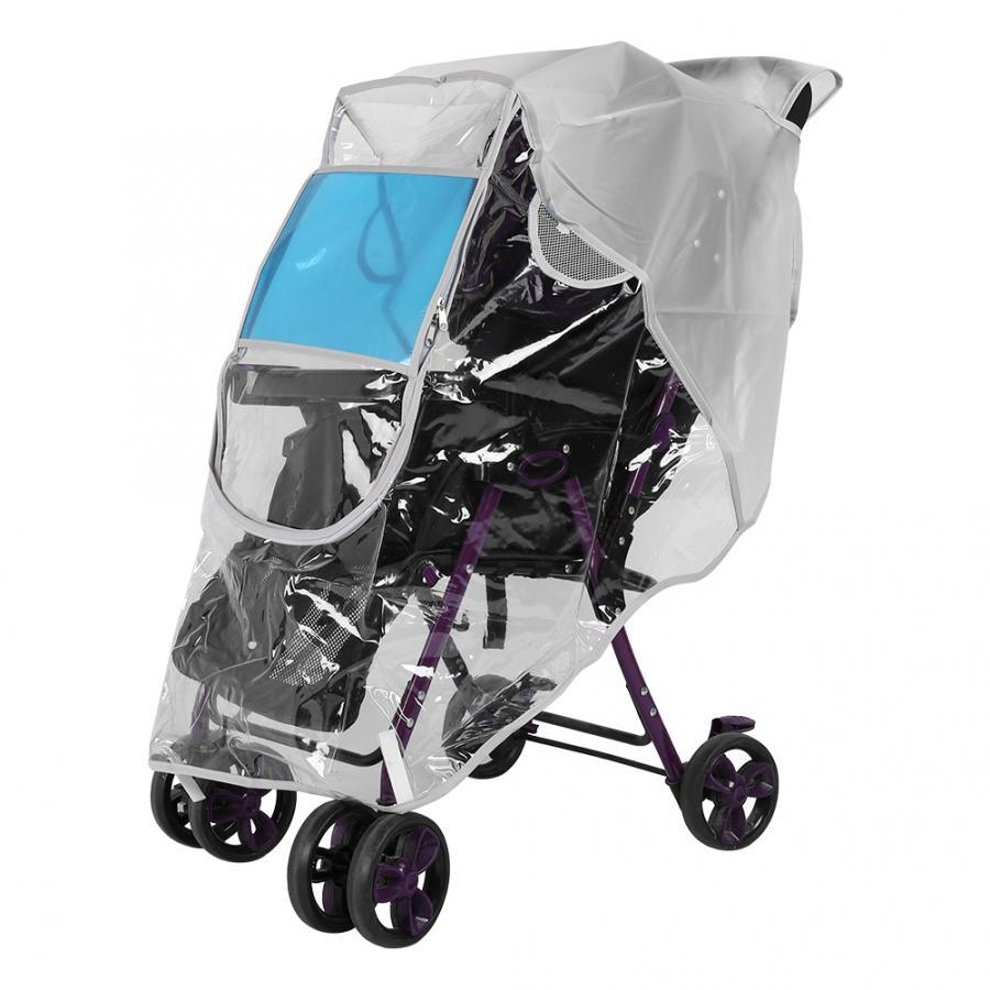 Universal Buggy Baby Kids Pet Pushchair Stroller Pram Transparent Rain Cover New