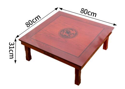 Firkantet 80X80 cm koreansk gulvbord Klappeben Luksus Antik - Møbel - Foto 6