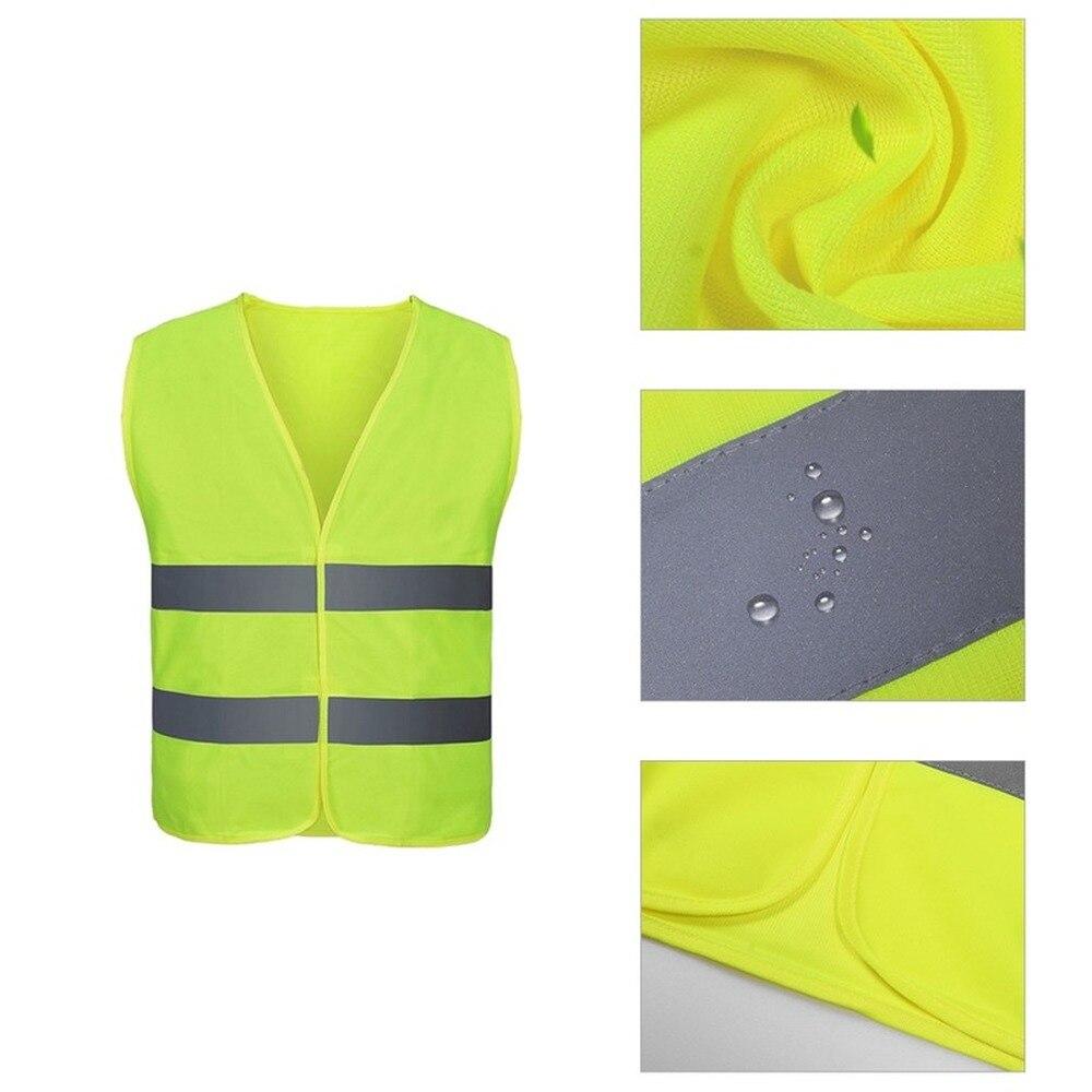 Светоотражающая одежда для автомобиля, защитный жилет для дорожного движения, желтая видимая Спортивная жилетка с высокой видимостью для б...