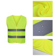 Ropa reflectante para seguridad en el tráfico, chaleco amarillo de alta visibilidad para exteriores, para correr, deportes de ciclismo