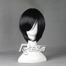 цена на Anime Touken Ranbu Online Yagen Toushirou Cosplay Wigs Short Black Heat Resistant Synthetic Hair Peruca Anime Wig + Wig Cap