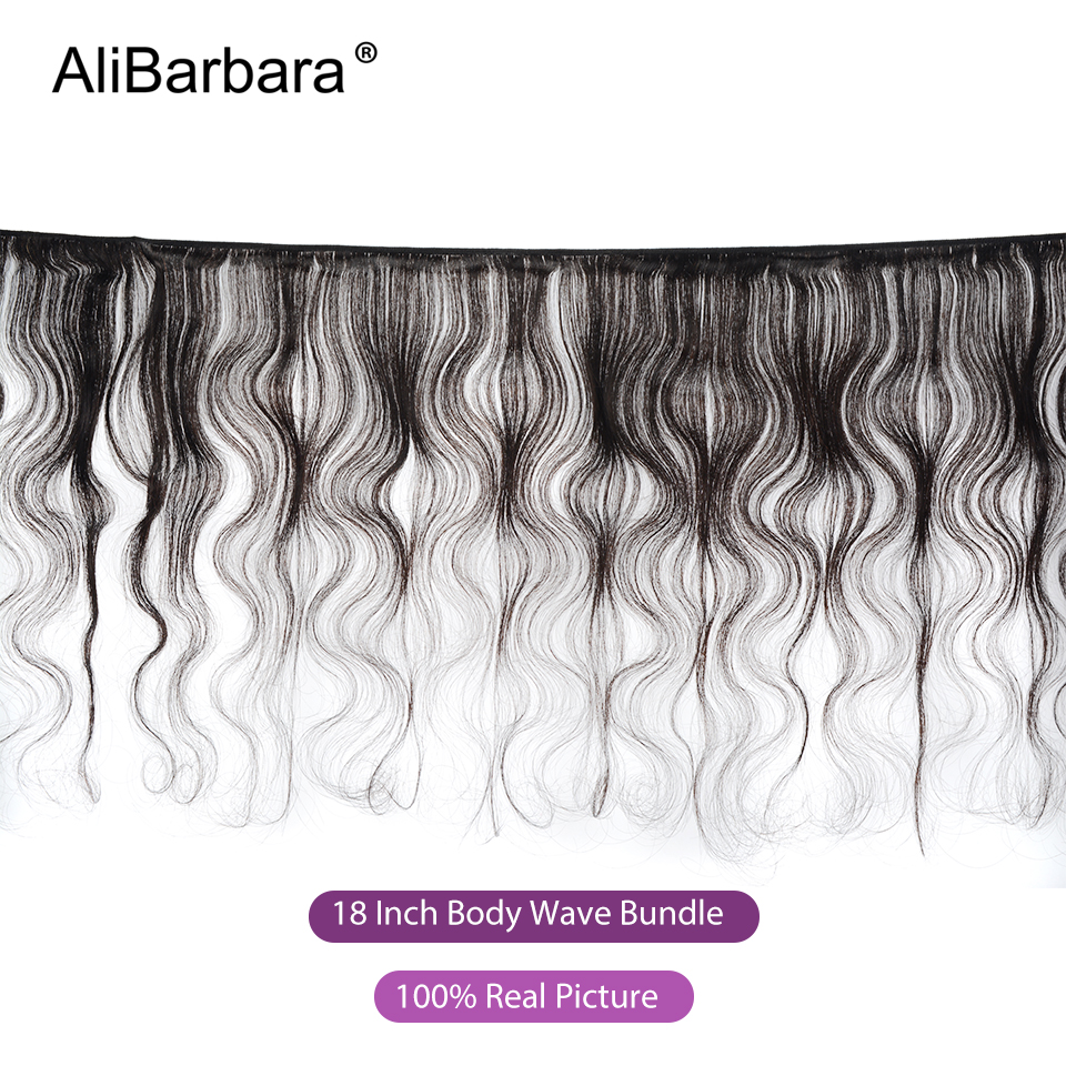 Image 2 - AliBarbara Remy Brazilian Body Wave Bundles With Frontal Closure 13X4 ear to ear Human Hair frontal with Bundles swiss lace-in 3/4 Bundles with Closure from Hair Extensions & Wigs