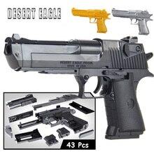 Toys Weapon Model-Kits Assembly-Toy Building-Blocks Miniature Desert Eagle Plastic