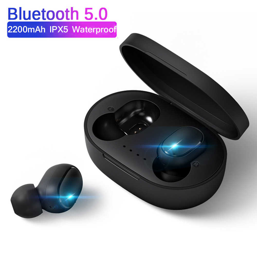 Bluetooth Earphone Wireless Headphone Olahraga Headset Kebisingan Membatalkan Earbud Mini Stereo Airdotsting untuk iPhone Xiaomi