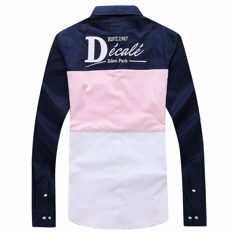 Factory Patchwork Eden Park Business Men Casual Long Sleeve Cotton Office Shirt Soft Male Social Dress Shirts Camisas  M-3XL