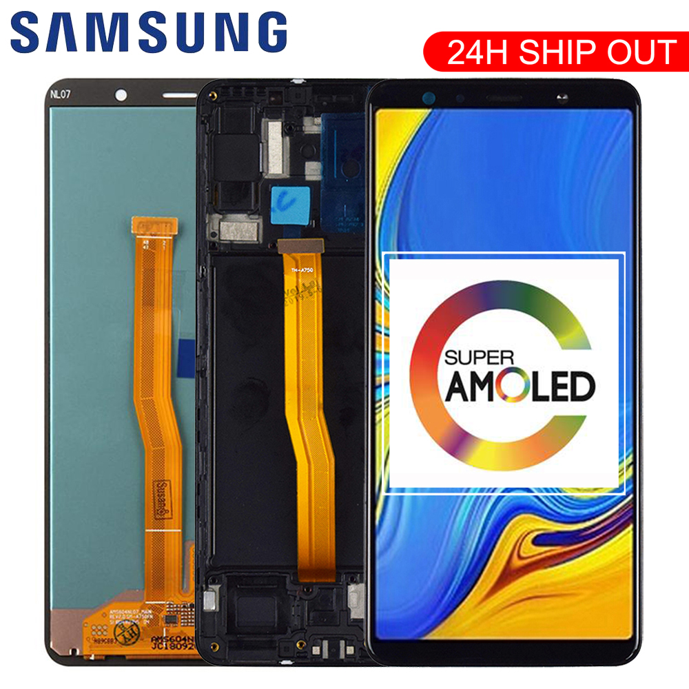 6.0'' Super AMOLED LCD For <font><b>Samsung</b></font> <font><b>Galaxy</b></font> <font><b>A7</b></font> <font><b>2018</b></font> A750 SM-A750F A750F <font><b>Display</b></font> With Touch Screen Assembly Replacement Part image