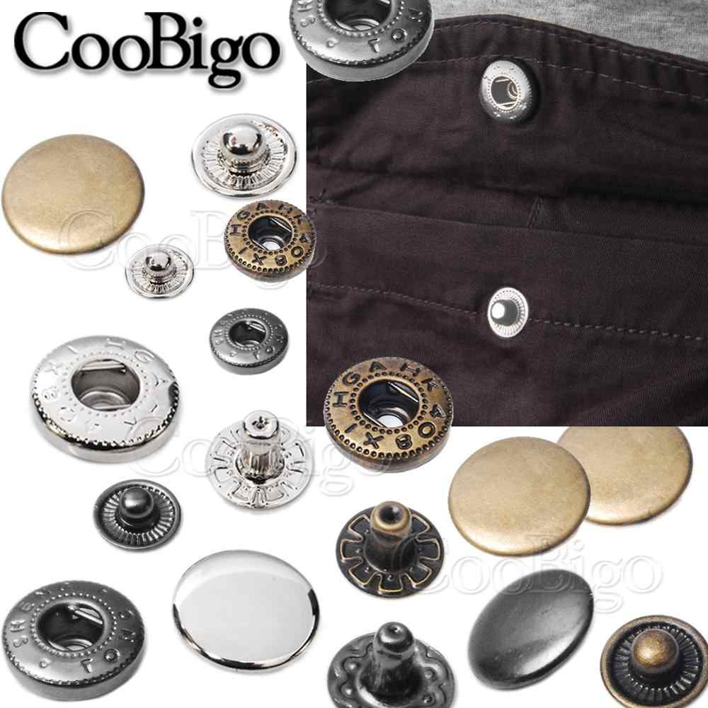 20 Pack Snap Fastenings Press Studs Popper Fasteners Craft Sewing Fabric Button