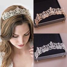 2020 nueva corona de boda para La novia tocado barroco Tiara y corona de moda princesa Tiara Rhinestone accesorios para el cabello tocado