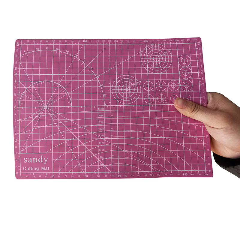 1 Pcs A4 Cutting Mat Pink Automatic Repair Knife Mat DIY Handmade Patchwork Pad Desktop Mouse Pad Office Stationery PVC Pad