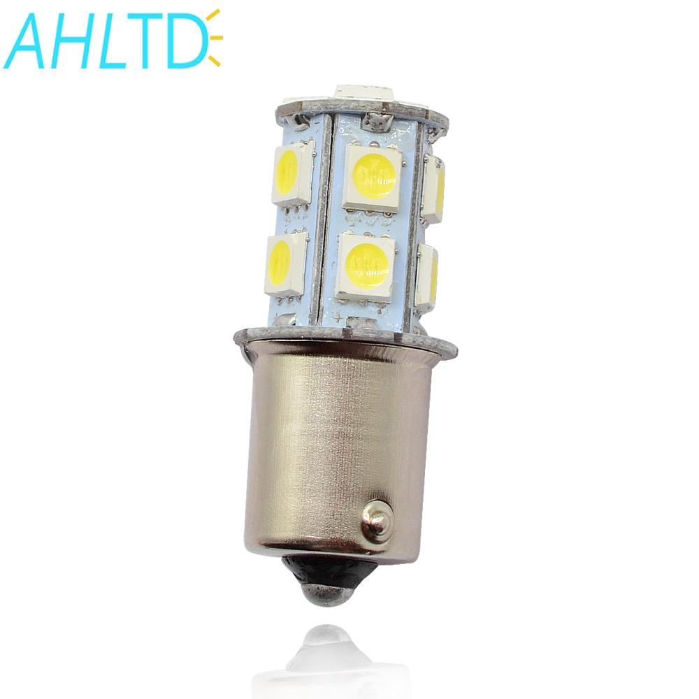 1X BA9S P21W 5050 13Led 1156 BA15S Car Led Turn Signal Lights Brake Tail Lamps Auto Parking Rear Reverse Bulbs DC 12V