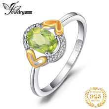 JewelryPalace Genuine Peridot Ring 925 Sterling Silver Rings