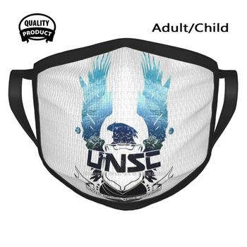 Unsc Earth Background Logo Cycling Hunting Hiking Camping Mouth Mask Unsc Odst 2 3 Master Chief Xbox Bungie Cortana 4 Reach 117 image