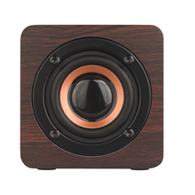 Wooden Mini Wireless Bluetooth Speaker HIFI Stereo Bass Small Home Theater Subwoofer