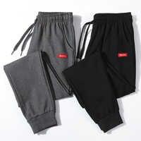 Cotton New Sweatpants Men's streetwear Pants Fashion Pencil linen Pants Men Full Length Drawstring Trousers For Men Casual Pants