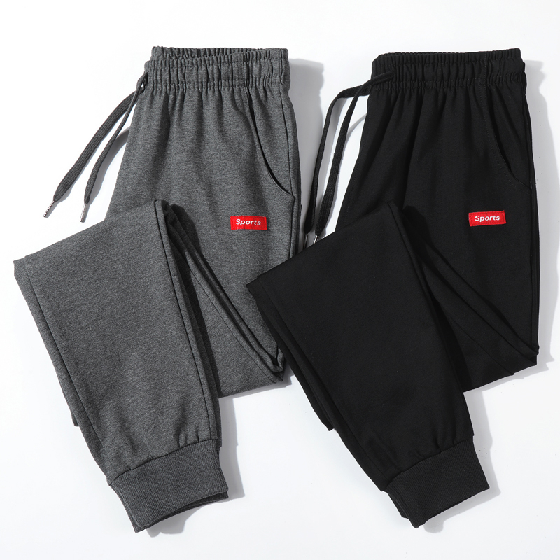 Cotton New Sweatpants Men's Streetwear Pants Fashion Pencil Linen Pants Men Full Length Drawstring Trousers For Men Casual Pants
