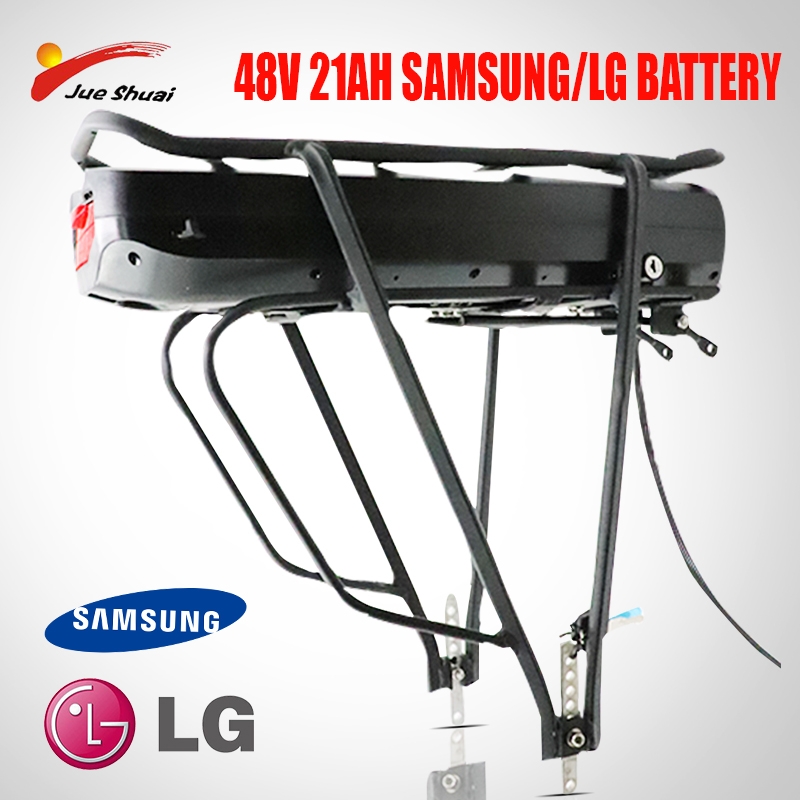 Electric Bicycle eBike 48V <font><b>52V</b></font> 250w-1000w 48V 21AH Rear Rack <font><b>Battery</b></font> Bafang BBS01 BBS02 Double Layer Luggage Carrier image