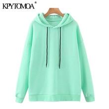 KPYTOMOA Women 2020 Fashion Loose Basic Hoodies Swe