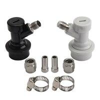 나사 볼 잠금 장치 Keg 연결 해제 세트 (SS 1/4 인치 바브 회전 어댑터  액체 및 가스  1/4 인치 MFL 포함)