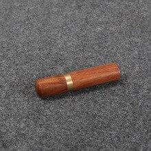 Натуральный прочный практичный из дерева коробка кожа вязание ремесло DIY Швейные иглы корпус Чехол коробки 82x18 мм