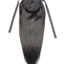 ZZHAIR, 60 г, 16 дюймов-20 дюймов, машинное производство, волосы remy, лента, конский хвост, на заколках, человеческие волосы для наращивания, конский хвост, Натуральные Прямые Волосы