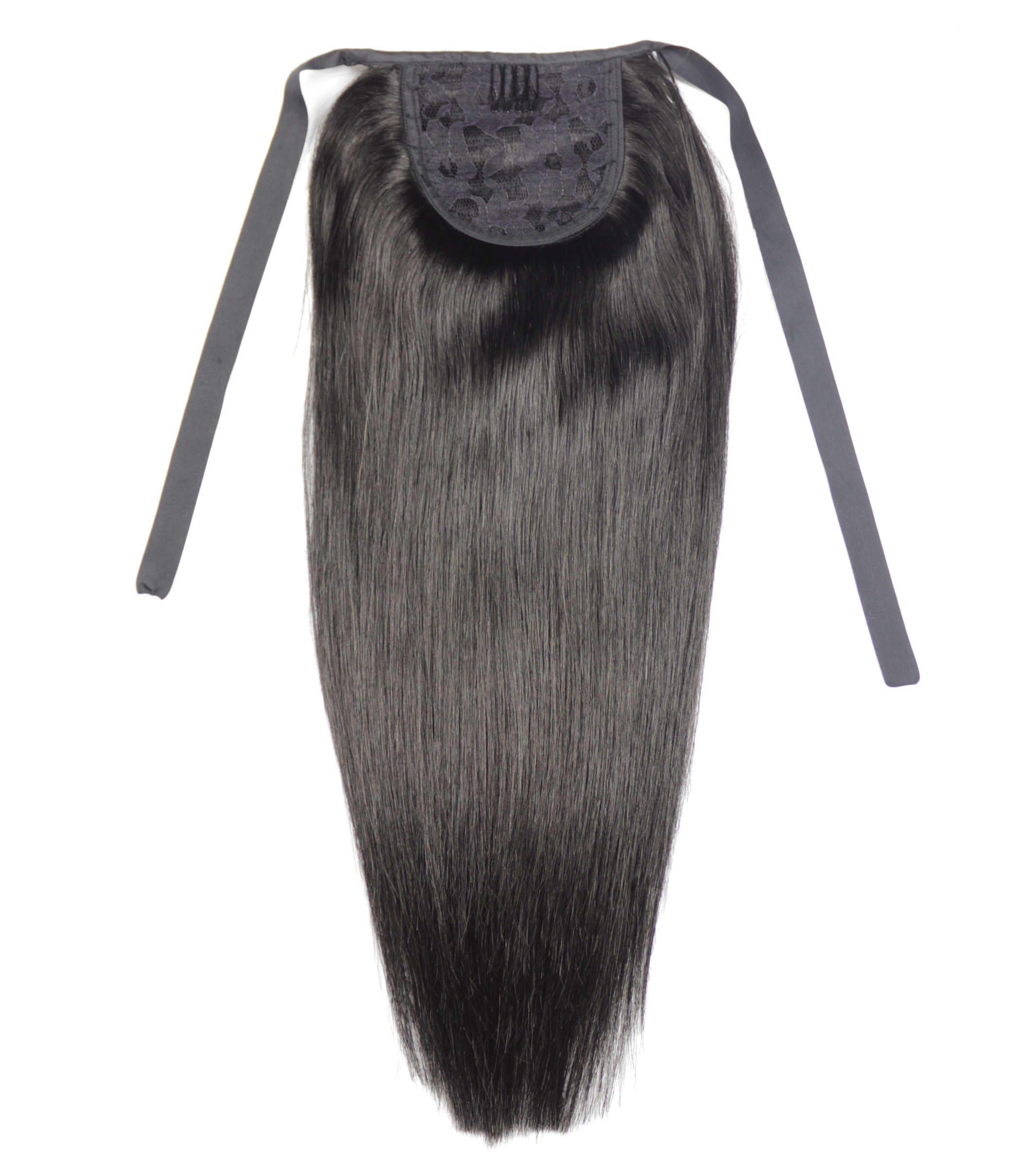 """ZZHAIR 60g 16 """"-20"""" maszyna wykonana Remy wstążka do włosów kucyk klipsy w doczepy z ludzkich włosów skrzyp naturalne proste włosy"""