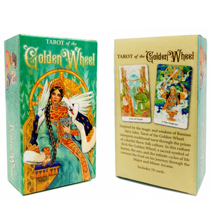 Tarot of the Golden Wheel 78 Cards Deck Russian Edition Inspired by Fairy Tales Mila Losenko Aeclectic Crisp Divination Game(China)