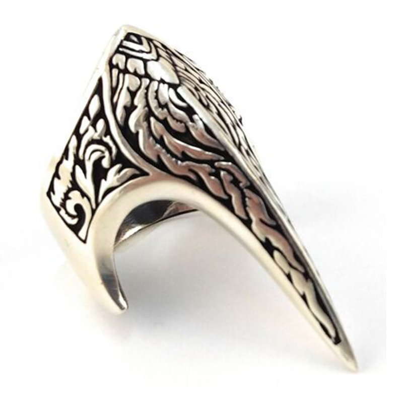 Peigen Exaggerated Personality Rings for Men Vintage Stainless Steel Lion Head Rings Heavy Metal Rock Style