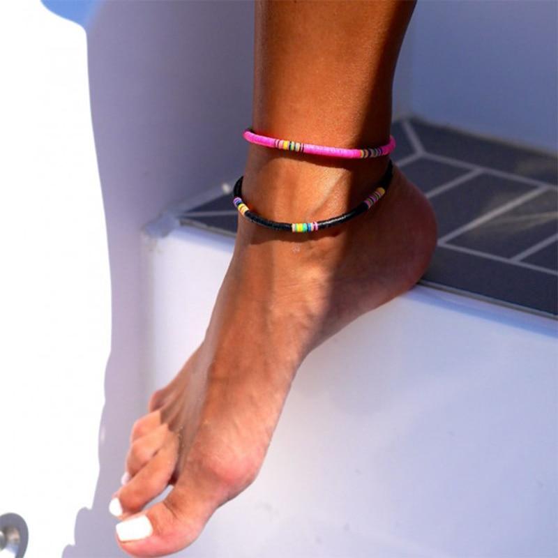2020-Handmade-Polymer-Clay-Discs-Anklet-Women-Adjustable-Bohemian-Ankle-Bracelet-Femme-Leg-Jewelry