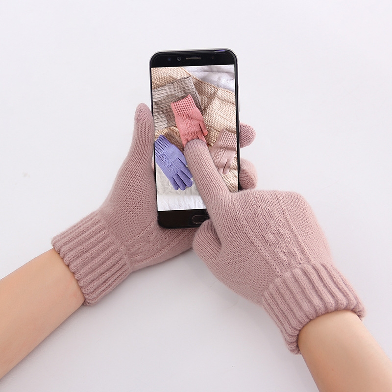 2019 Autumn And Winter For Women Magic Gloves Girls Stretchy Warm Magic Fashion Sports Work Gloves Female Knit Glove Mittens