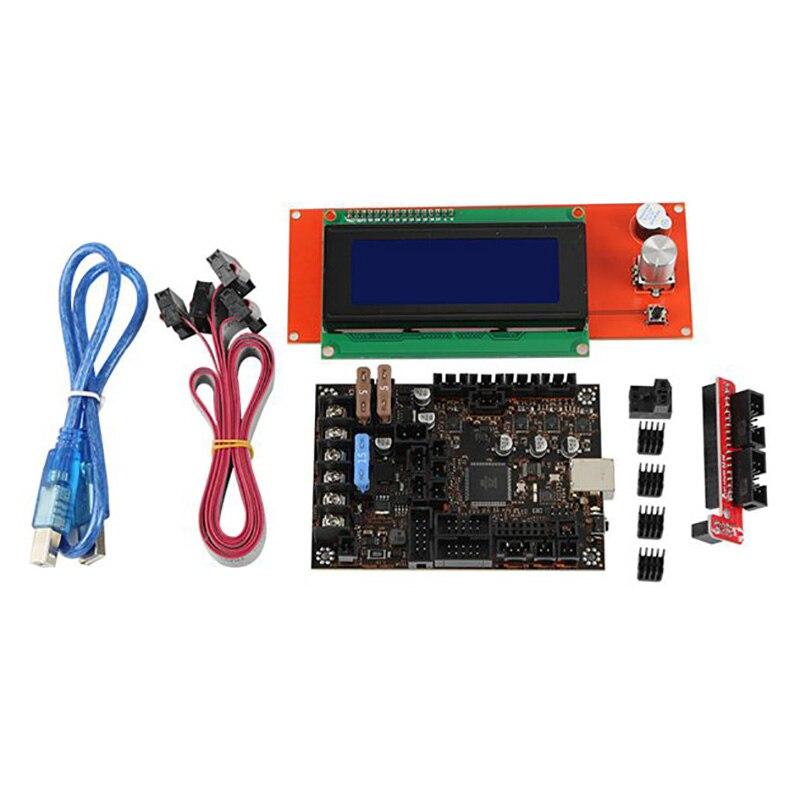 Комплект материнской платы 3D принтера для Prusa MK3 3S Einsy Rambo 1.1B с TMC2130 SPI + 2004 Lcd