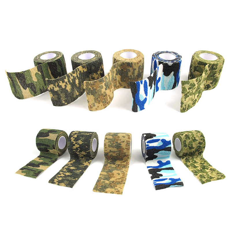 12 Colors Hot Sale 5cmx4.5m Army Camo Outdoor Hunting Shooting Tool Camouflage Stealth Tape Waterproof Wrap Durable