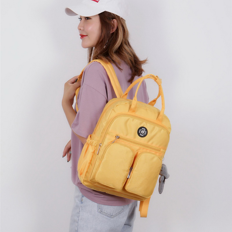 Ha8268840c45340e2a2aa23d68afc67e5c - New Waterproof Nylon Backpack for Women Multi Pocket Travel Backpacks Female School Bag for Teenage Girls Dropshipping