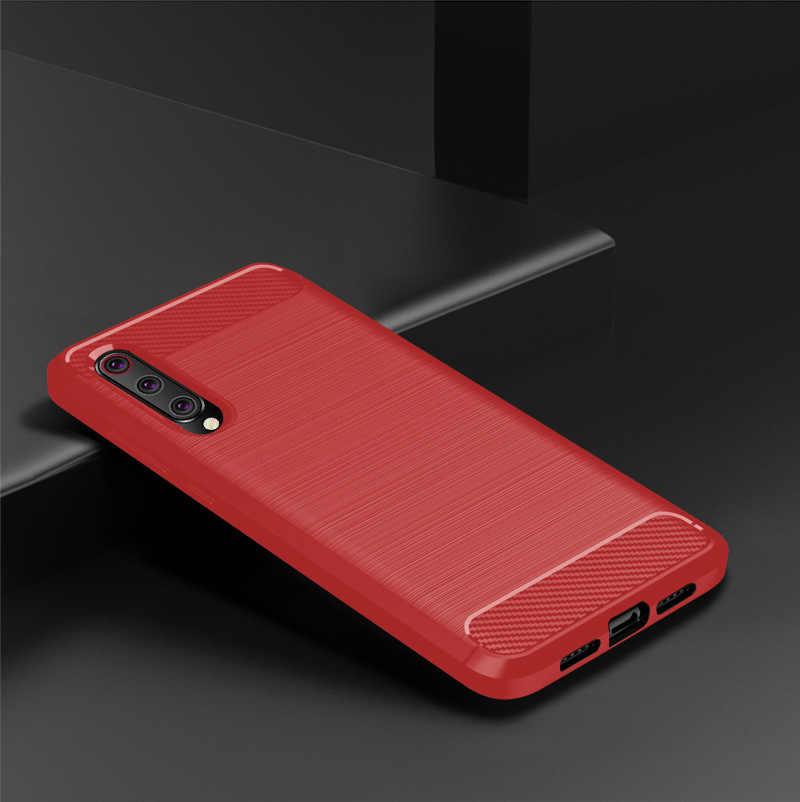 """Cubierta de absorción de golpes suave TPU Anti arañazos fibra de carbono funda Original para Xiaomi mi 9 mi 9 6,39"""" casos de la cubierta"""