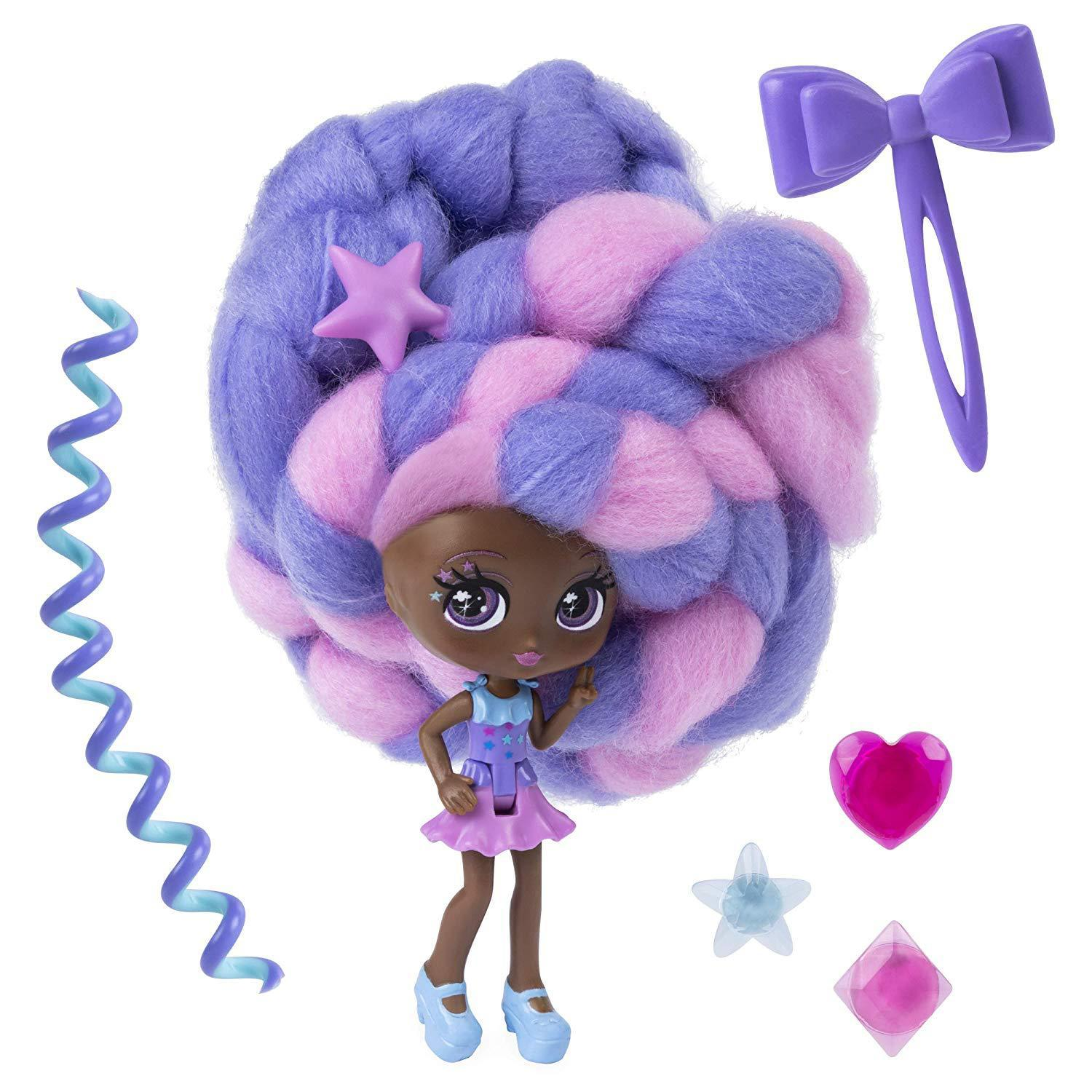 1Pc Doll Toy Cotton Candy Hair Marshmallow Hair Doll for Grils Christmas Gift