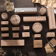 Yoofun-sello de goma de la serie la vida, 1 unidad/Diseño, sellos bonitos de madera, decoración de álbumes de recortes, diario, Collage, papelería