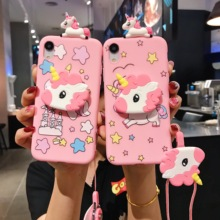 Für Samsung A6 A7 A8 A9 J4 J6 J8 Plus A30s A51 A71 A50 A20 A30 Fall Lustige Rosa TPU weiche Telefon Gurt Seil Fall