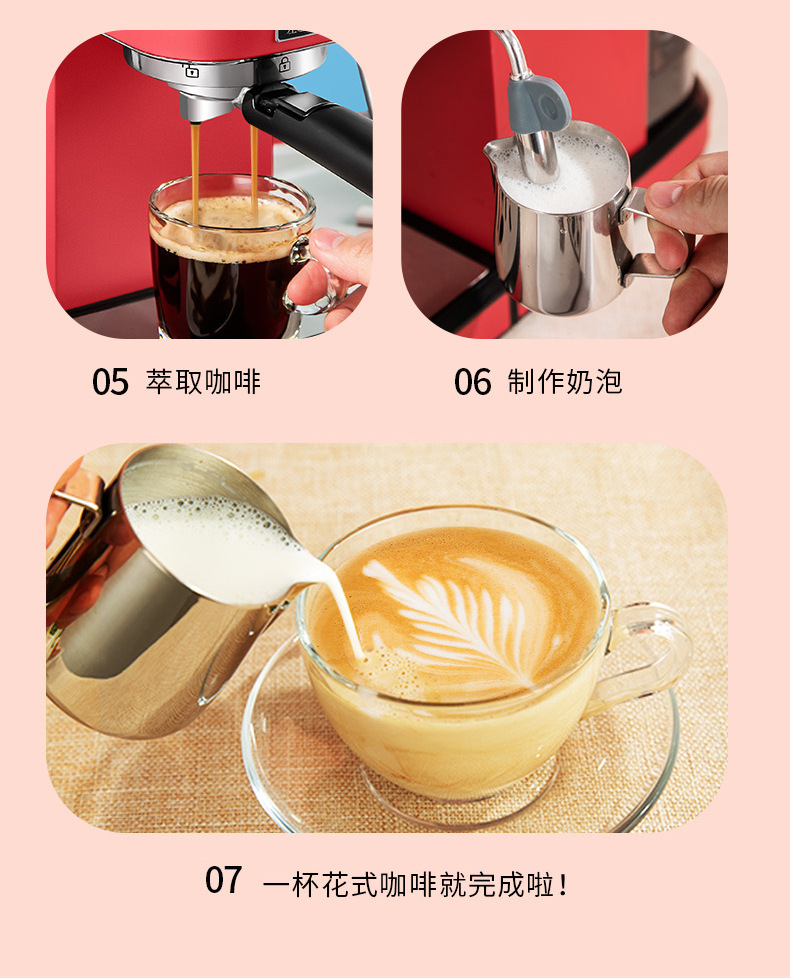 Ha826d403a18e4d86bf4c85d5e66cdeaan - 2020 Neue 15Bar Espresso Machine Stainless Steel Body Memory Function Home Use Fully Automatic Milk Frother Kitchen Appliances