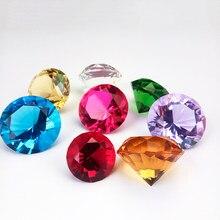 40mm 50mm 60mm 1 stücke Mix Farbe Kristall Briefbeschwerer Glas Diamant Form Kunst Handwerk Material Dekorative Geschenke