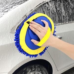 Image 2 - Cepillo de lavado de coches telescópico de mango largo, mopa de limpieza, cepillo de limpieza de coche, escoba de chenilla, accesorios para automóviles
