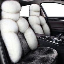Almofada do assento de carro almofada de lã Australiana Novo tapete do carro almofada do assento de Inverno de pelúcia tampa De assento de Pele