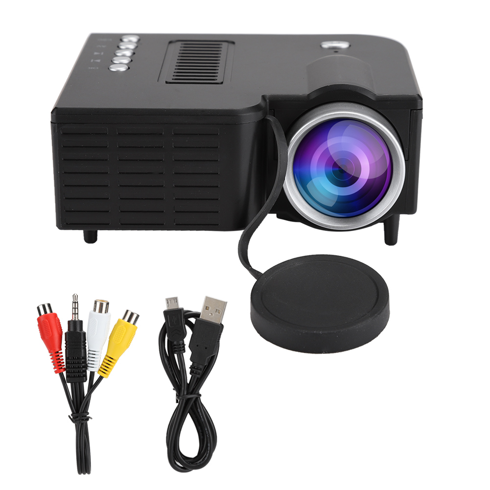 1920X1080 Full HD Mini Portable Projector Support MKV / AVI / MOV / MP4 / TS / ASF / FLV / PMP