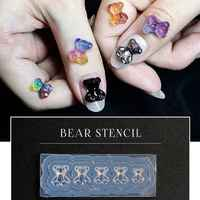 JAVRICK Silicone Mini Gummy Bear Mold Nail Art Resin Casting Mould Template Bear Silicone Resin Mold Jewelry Tools Art Crafts
