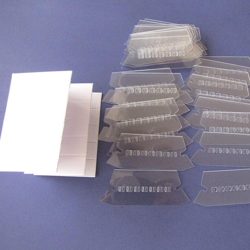 100Pcs Film Professional Hanging Convenient Transparent Label PVC Office Crafts File Index Smooth Durable Bendable