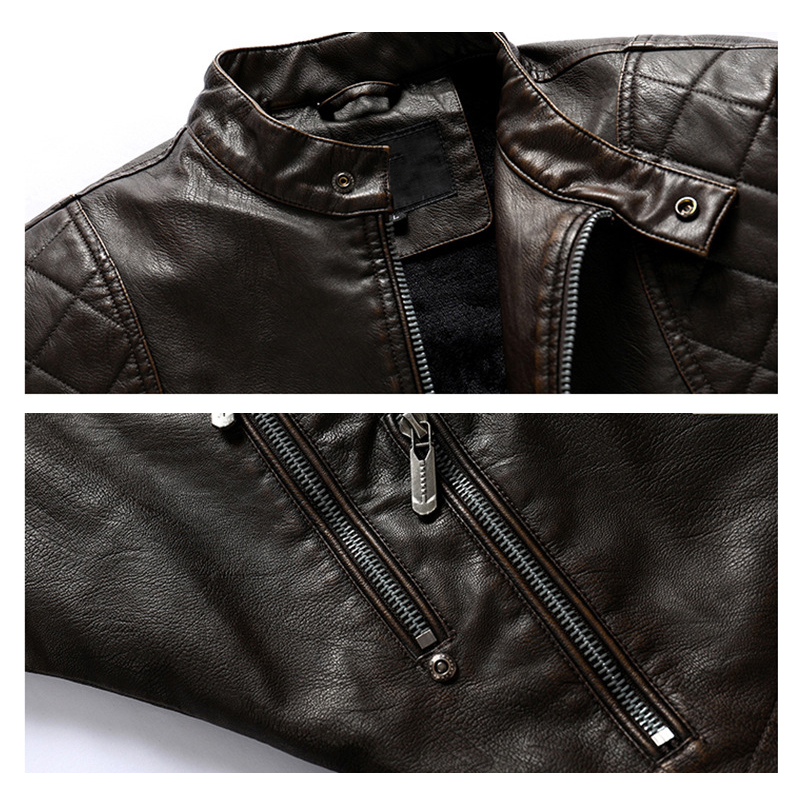 Mountainskin 2020 New Leather Jacket Men Winter Fleece Casual Motorcycle Jackets Autumn Male PU Coat Mens Brand Clothing SA826 5