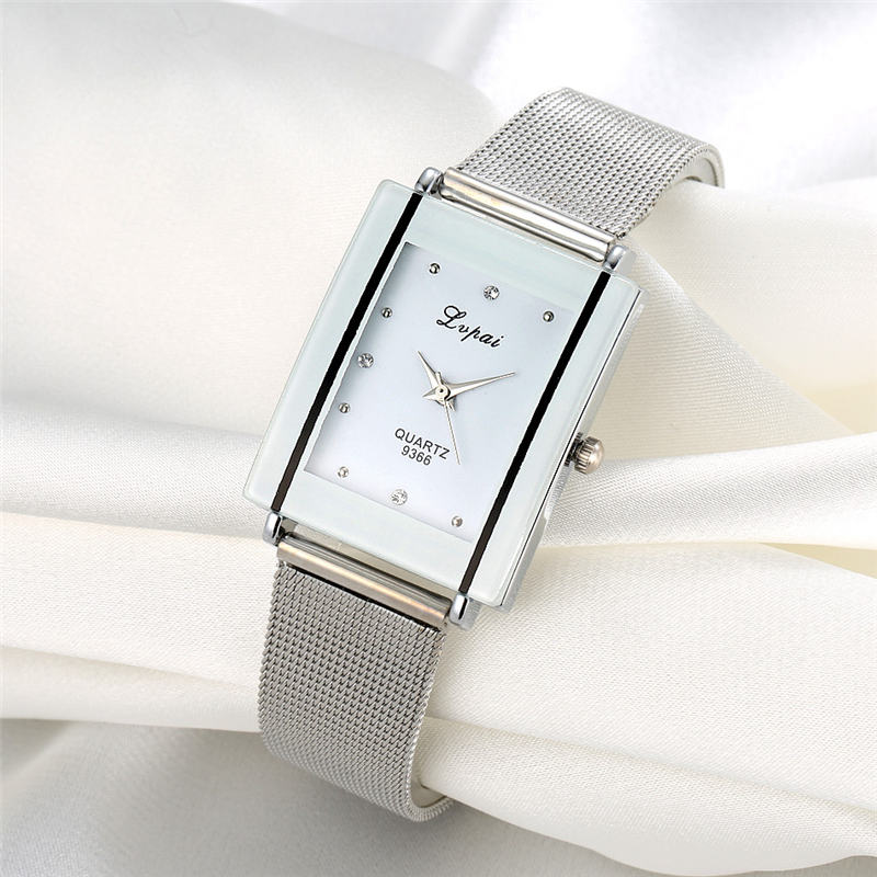 Alloy Steel Women Watches Female Quartz Wrist Watch Rectangular Dial Luxury Wristwatch Ladies Clock Gift Zegarki Damskie #DN