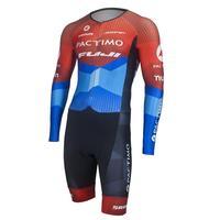 pactimo 2019 Triathlon Body Suit Men Long Sleeve Skinsuit Uniforme de Ciclismo Conjunto Ciclismo Masculino Trisuit 9d Gel Pad