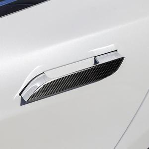 Image 4 - 4 pçs maçaneta da porta envoltório capa para tesla modelo s topfit protetor de fibra carbono adesivo decalques porta do carro estilo adesivos